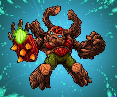 How to Draw Tree Rex from the game Skylanders Giants with