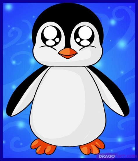 How to Draw a Baby Penguin Step by Step anime animals
