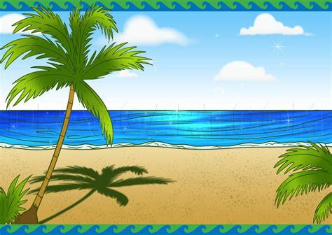 How to Draw a Beach Scene Dragoart