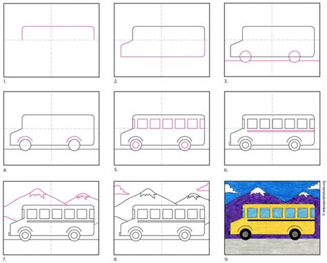 How to Draw a Bus amazon