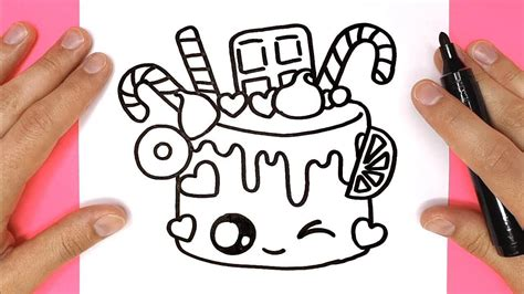 How to Draw a Cartoon Birthday Celebration Cake Cute and Easy