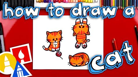 How to Draw a Cartoon Cat YouTube