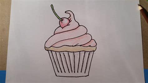 How to Draw a Cartoon Cupcake YouTube