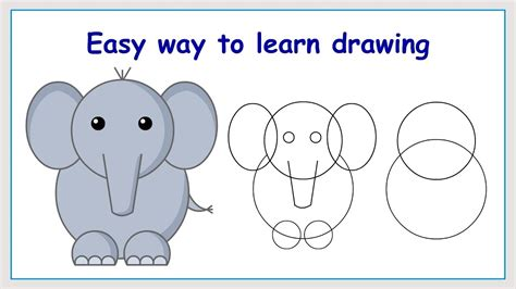 How to Draw a Cartoon Elephant in Easy Steps ThoughtCo
