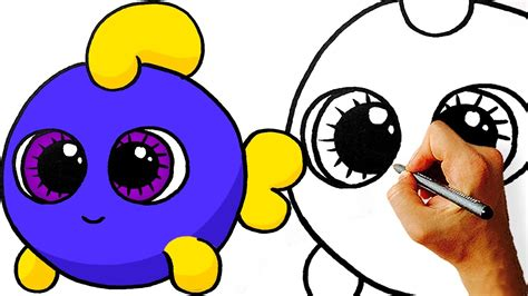 How to Draw a Cartoon Fish Cute and Easy YouTube