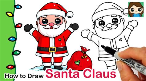 How to Draw a Cartoon Santa Claus Video Series eHow