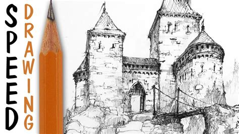 How to Draw a Castle YouTube