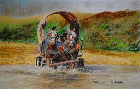 How to Draw a Covered Wagon in Pastel Online Art Lessons