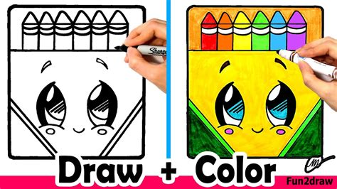 How to Draw a Crayon Box Cute Easy YouTube