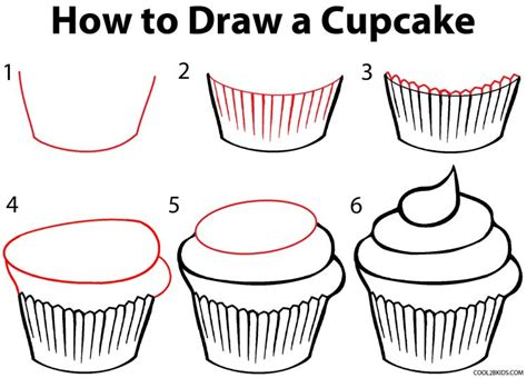 How to Draw a Cupcake Step by Step Pictures Cool2bKids