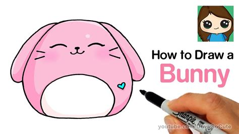 How to Draw a Cute Bunny Rabbit Easy YouTube