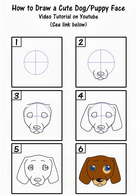 How to Draw a Cute Puppy Face Step by Step Art for kids