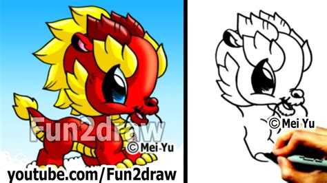 How to Draw a Dragon Chinese Dragon Cute Drawings Art Lessons Fun2draw