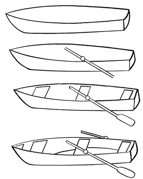 How to Draw a Fishing Boat How to Draw Step by Step