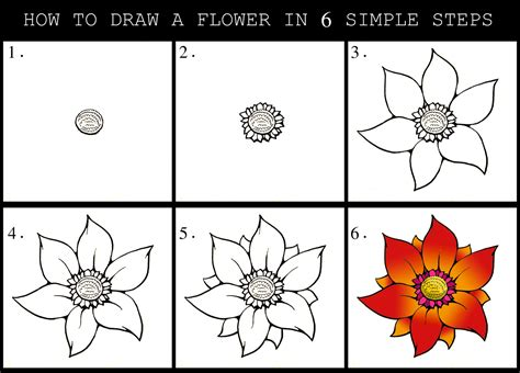 How to Draw a Flower 3 Steps with Pictures