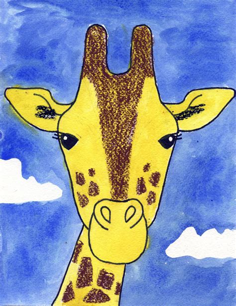 How to Draw a Giraffe Art Projects for Kids