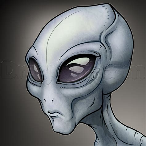 How to Draw a Gray Alien The Grays Step by Step Aliens