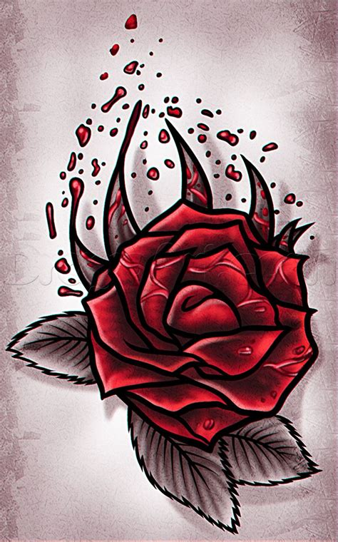 How to Draw a Heart with a Rose Step by Step Tattoos