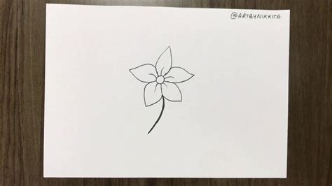 How to Draw a Jasmine Flower Drawing Easy Step by Step
