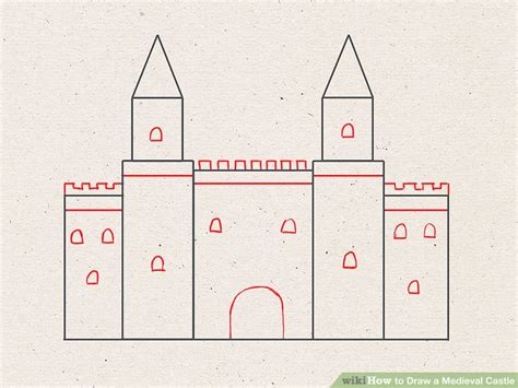 How to Draw a Medieval Castle 9 Steps with Pictures