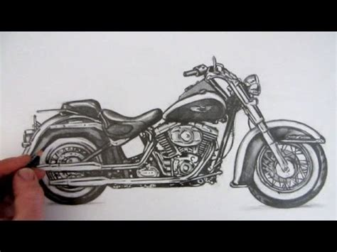 How to Draw a Motorcycle Harley Davidson Softail