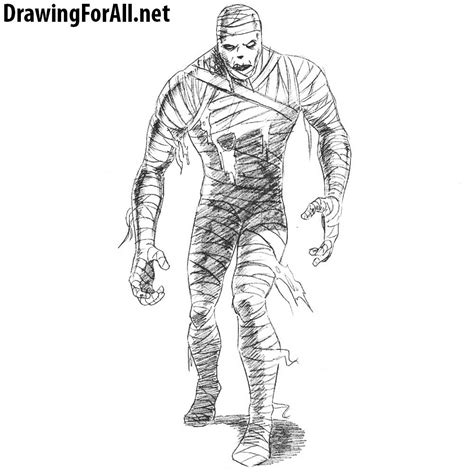 How to Draw a Mummy DrawingForAll