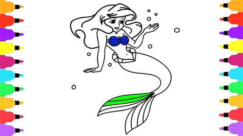 How to Draw a Princess Rainbow Finger Family Song Art Colors for