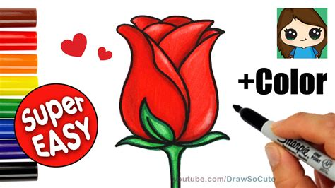 How to Draw a Rose Cute Easy Kawaii Drawings YouTube