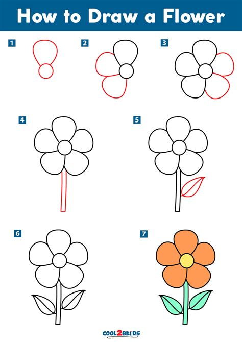 How to Draw a Simple Flower Step by Step Flowers Pop