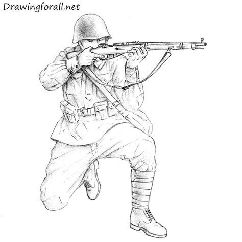 How to Draw a Soviet Soldier DrawingForAll