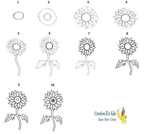 How to Draw a Sunflower DrawingTeachers