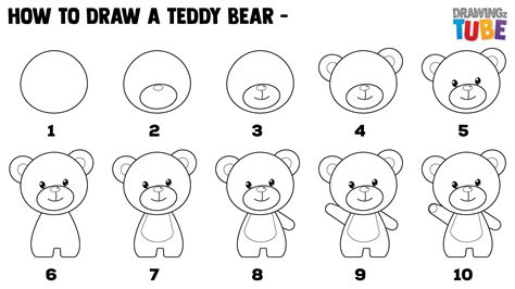 How to Draw a Teddy Bear Easy Step by Step Drawing Lessons