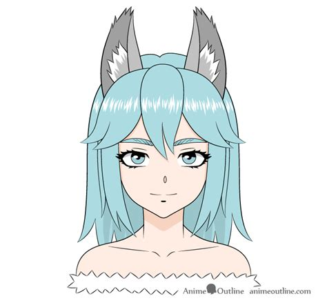 How to Draw a Wolf Girl Anime Wolf Girl Step by Step