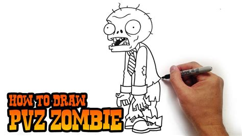 How to Draw a Zombie Plants Vs Zombies Zombie Step by