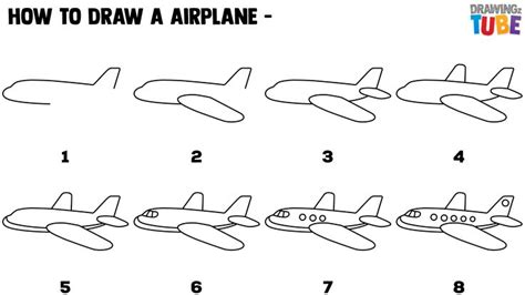 How to Draw an Airplane with Easy Step by Step Drawing