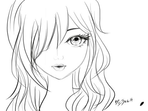 How to Draw an Anime Girl s Head and Face Anime Outline