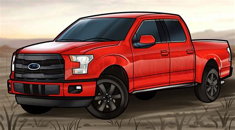 How to Draw an F 150 Ford Pickup Truck by Darkonator