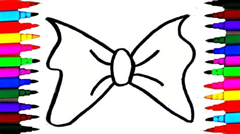 How to Draw and Color Rainbow Colors Bows for Girls and