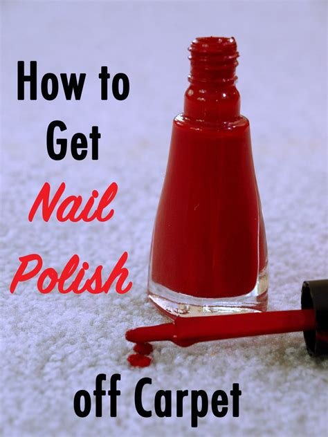 How to Get Nail Polish Out of Carpet HubPages
