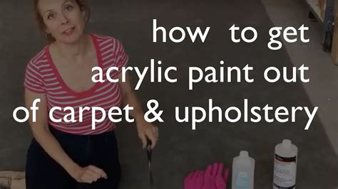 How to Get Paint Out of Carpet Fabric Upholstery
