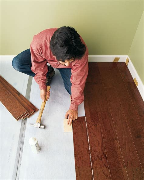 How to Install a Floating Engineered Wood Floor This Old