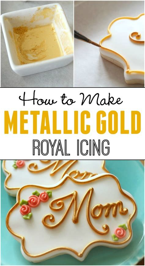 How to Make Gold Icing and Silver Too The Sweet