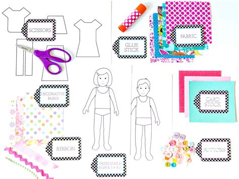 How to Make Paper Dolls With Downloadable Patterns how