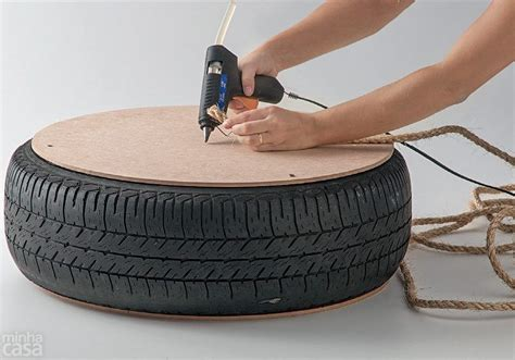 How to Make Turn an Old Tire into a Rope Ottoman DIY