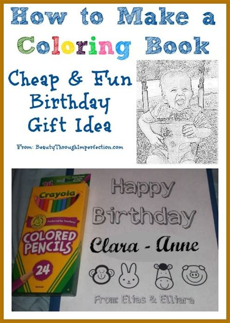 How to Make Your Own Coloring Book Cheap Birthday Gift