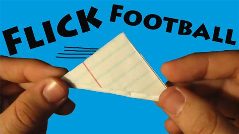 How to Make a Paper Flick Football Origami YouTube