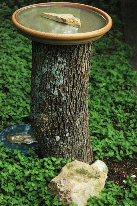 How to Make a Tree Stump Bird Bath Garden Guides