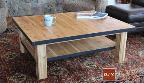 How to Make a Wood Coffee Table with Steel Accents DIY Plans