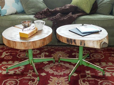 How to Make an Upcycled Table From Old Log and a Chair