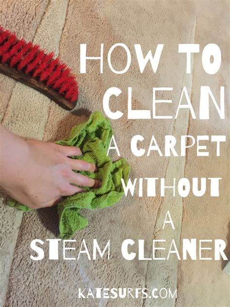 How to Naturally Clean a Carpet Without a Steam Cleaner